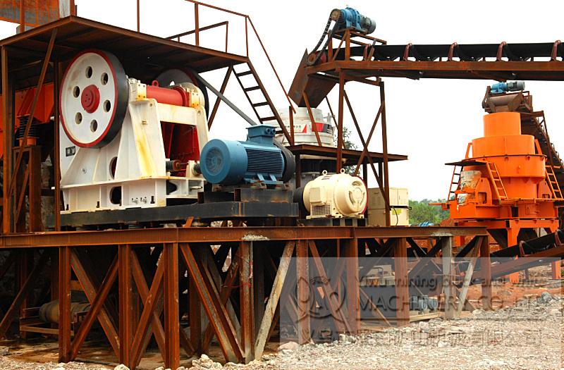 单段颚式破碎机砂石生产线